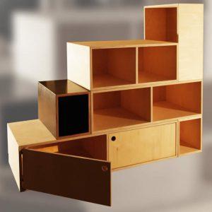 Bild: Artpacker Möbelbau / modulares Regalsystem